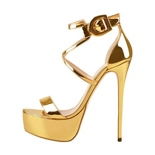 Onlymaker Women's High Heel Sandals Open Toe Platform Stiletto
