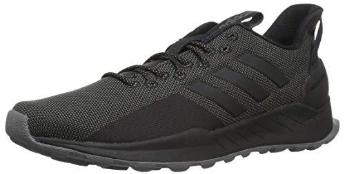 adidas Men's Questar Trail Running Shoe, Black/Black/Grey