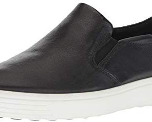 ECCO Men's Soft 7 Casual Loafer Sneaker, Black, 44 M EU (10-10.5 US)