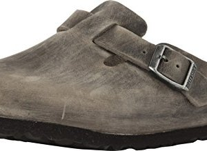 Birkenstock Men's Boston Soft Footbed Clog Iron Oiled Leather