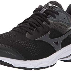Mizuno Men's Wave Inspire 15 Running Shoe, Black-Dark Shadow, 11 D US