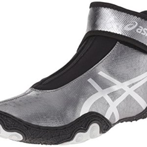 ASICS Men's Omniflex Attack V2.0 Wrestling Shoe, Gunmetal/Silver/Black