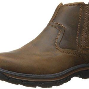 Skechers Men's Relaxed Fit Segment - Dorton Boot,Dark Brown