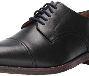 Florsheim Mens Salerno Cap Toe Black Oxford