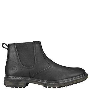 Timberland Men's Logan Bay Chelsea Boot, Black Full Grain Leather