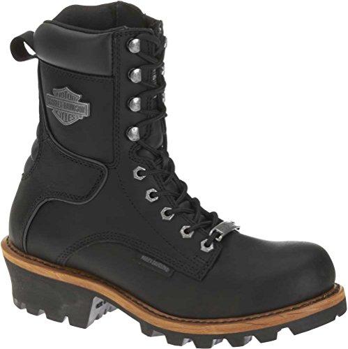 Harley-Davidson Men's Tyson Logger Boot,Black