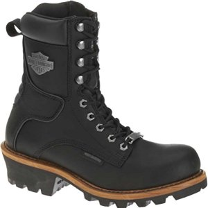Harley-Davidson Men's Tyson Logger Boot,Black