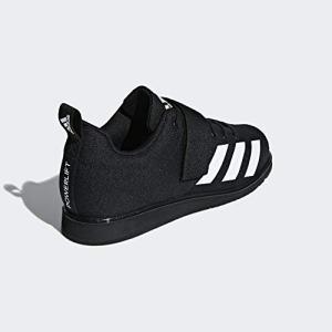 adidas Men's Powerlift 4 Weightlifting Shoe, White/Black