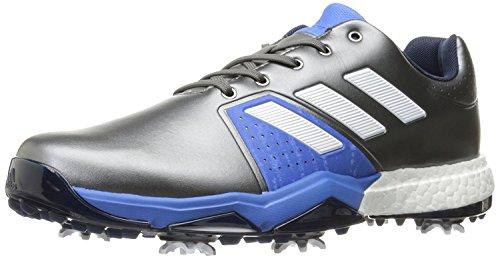 Adidas Men's Adipower Boost 3 Golf Shoe, Dark Silver Metallic/White/Blast Blue, 8.5 M US