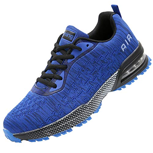 GANNOU Men Air Cushion Running Tennis Shoes Trail Lightweight Breathable