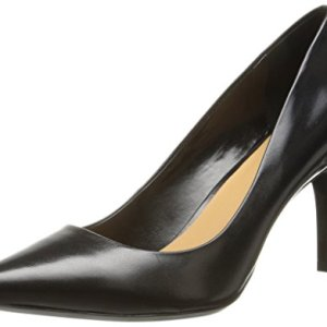 Calvin Klein Women's Gayle Pump, Black Leather