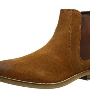 Crevo Men's Denham Chelsea Boot, Chestnut Suede, 10.5 M US