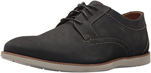 CLARKS Men's Raharto Plain Oxford, Blue Nubuck