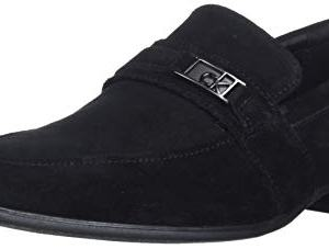 Calvin Klein Men's Bartley Oxford Loafer, Black Suede