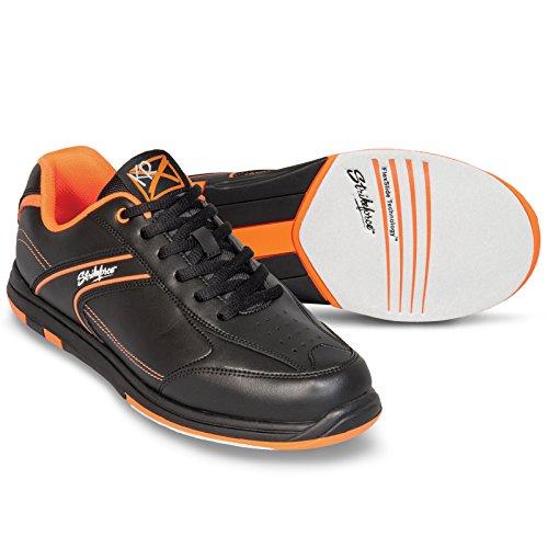 KR Strikeforce Bowling Shoes Mens Flyer Bowling Shoes- M US, Black/Orange