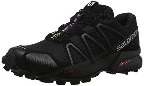 Salomon Men's Speedcross 4 Trail Running Shoes Runner, Black/Black/Black Metallic, 14
