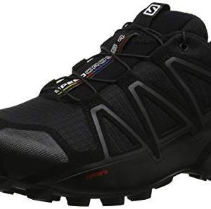 Salomon Men's Speedcross 4 Trail Running Shoes Runner, Black/Black/Black Metallic, 14