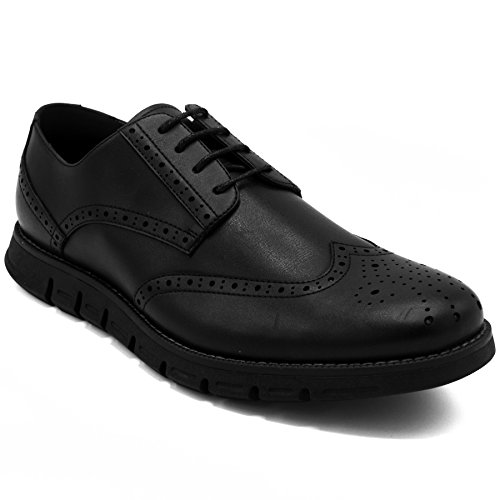Nautica Men's Wingdeck Oxford Shoe Fashion Sneaker Black Smooth