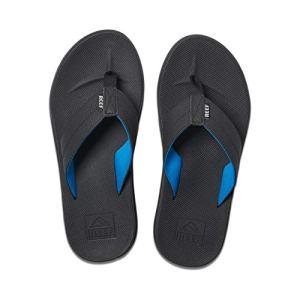 REEF Men's Sandals Element TQT, Black/Light Blue