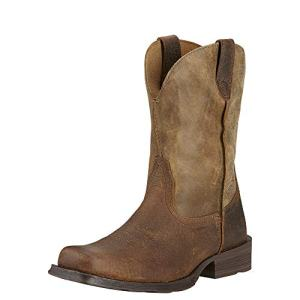 Ariat Men's Rambler Wide Square Toe Western Cowboy Boot, Earth/Brown Bomber, 9.5 M US