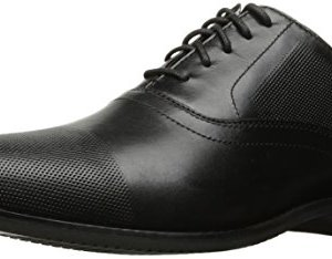 Rockport Men's Derby Room Perf Cap Toe Oxford, Black