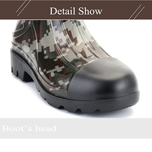 Kontai Man Knee High Rubber Rainboots Camo Waterproof Rubber Boots When you have got DailyShoes Rubber Rain and Snow Boots in your wardrobe, you will be able to face the weather with confidence and in model.
