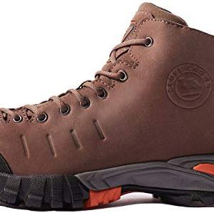 CAMEL CROWN Mens Mid Hiking Boots Water Resistant Leather