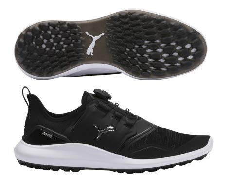 Puma Golf Men's Ignite Nxt Disc Golf Shoe, Black Silver-Puma White