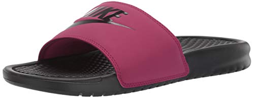 Nike Women's Benassi Just Do It Sandal, True Berry/Burgundy ash