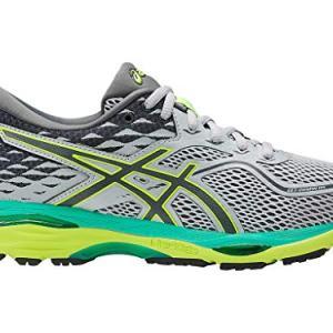 ASICS Womens Gel-Cumulus 19 Running Shoe, Mid Grey/Carbon/Safety Yellow