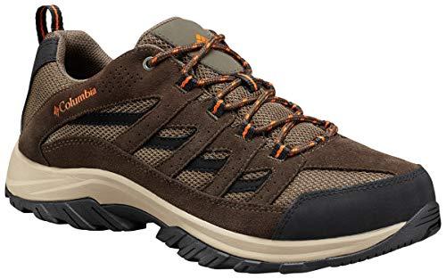 Columbia Men's Crestwood Wide Hiking Shoe, camo Brown, Heatwave, 11.5 US