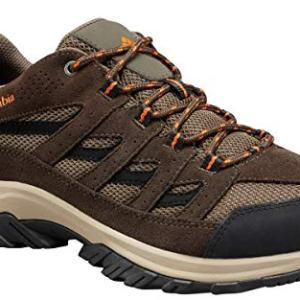 Columbia Men's Crestwood Wide Hiking Shoe, camo Brown, Heatwave, 11.5 US