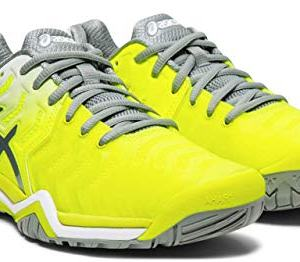 ASICS Gel-Resolution 7 Women's Tennis Shoe, Safety Yellow/Stone Grey