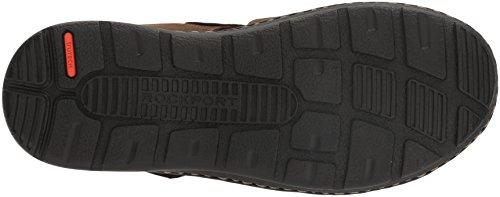 Rockport Men's Darwyn Fishermen Sandal, Brown Ii Leather Rockport Men's Darwyn Fishermen Sandal, Brown Ii Leather, 10 W US.