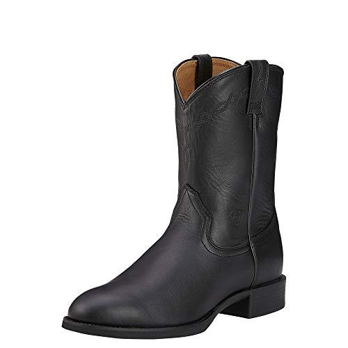 Ariat Men's Heritage Roper Western Cowboy Boot, Black, 10 M US