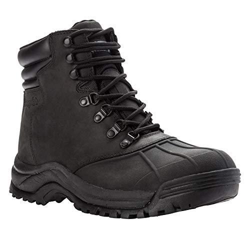 Propet Men's Blizzard Mid Lace Snow Boot, Black