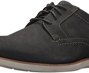 Clarks Men's Raharto Plain Shoe, blue nubuck