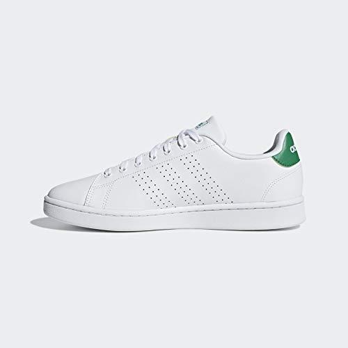 adidas Men's Advantage Running Shoe, White/Green