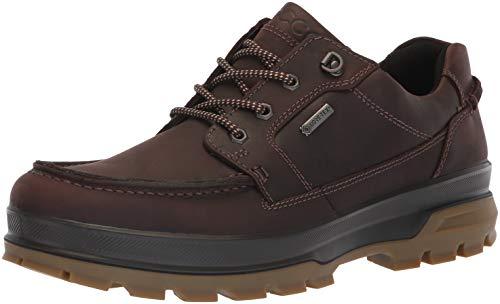 ECCO Men's Rugged Track Gore-TEX Moc Tie Hiking Shoe, Mocha, 46 M EU (12-12.5 US)