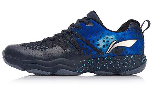 LI-NING Nebula Badminton Shoes Men Wearable Anti-Slippery Lining Fitness Sport Shoes Sneakers Blue AYTN035 US 10.5