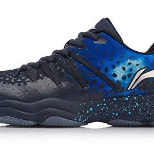 LI-NING Nebula Badminton Shoes Men Wearable Anti-Slippery Lining Fitness Sport Shoes Sneakers Blue AYTN035 US 10.5