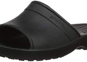 Crocs Unisex Classic Slide Sandal, Black