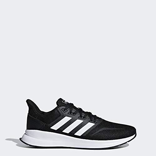 Adidas Men's Falcon Running shoe, White/Black, 9.5 M US