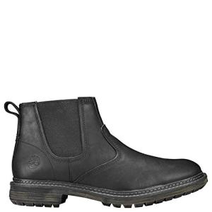 Timberland Men's Logan Bay Chelsea Boot, Black Full Grain Leather