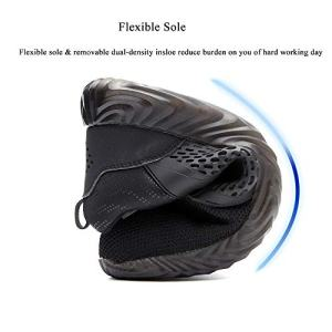 SUADEX Steel Toe Shoes for Women Men, Anti Slip Safety Shoes