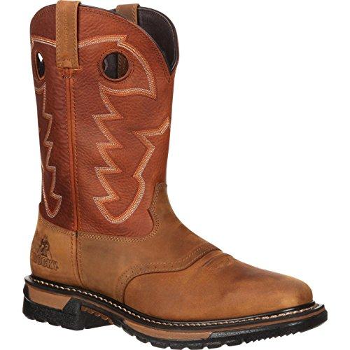ROCKY Men's Western Boot, Tan and Ochre