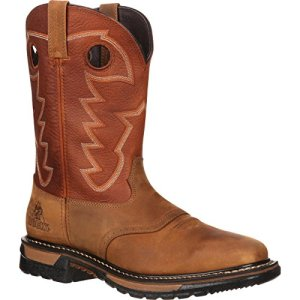 ROCKY Men's Western Boot, Tan and Ochre