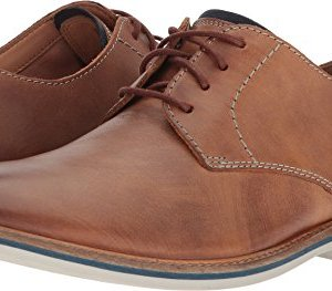CLARKS Mens Atticus Lace Tan Leather Oxford