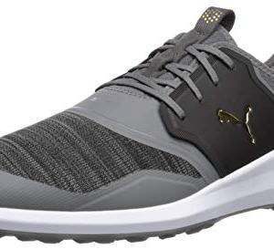 Puma Golf Men's Ignite Nxt Lace Golf Shoe, Quiet Shade Team Gold-Puma Black
