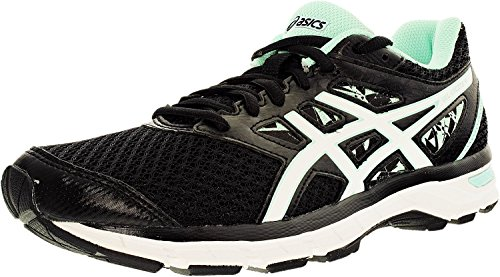 ASICS Women's Gel-Excite 4 Running Shoe (8 W US, Black/White/Mint)
